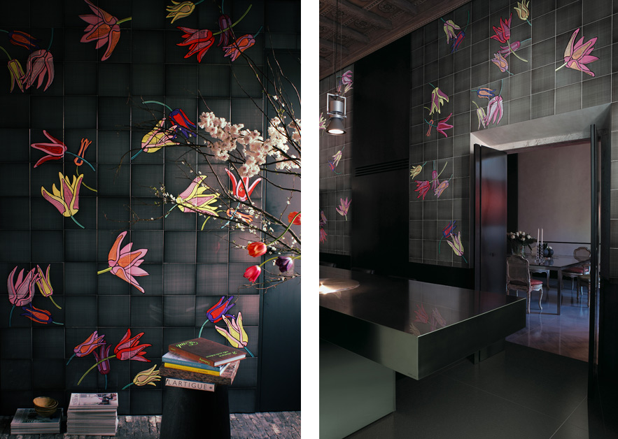 Tuli-Pop · Hand Painted Tiles for Ceramica Bardelli · Milan 2009