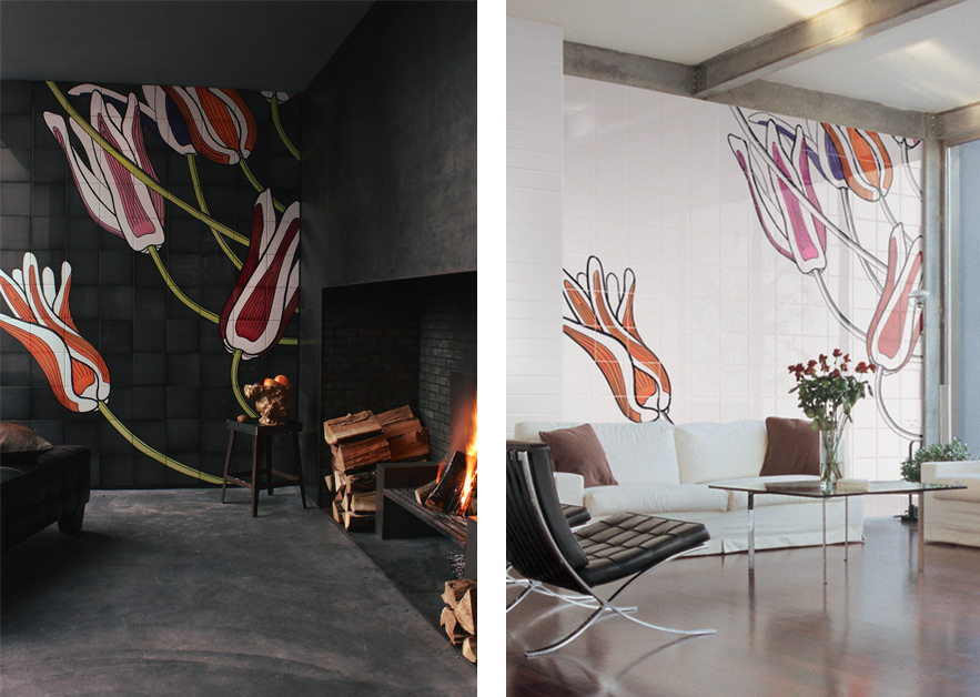 Tuli-Art · Hand-Painted Tiles for Ceramica Bardelli · Milan 2009