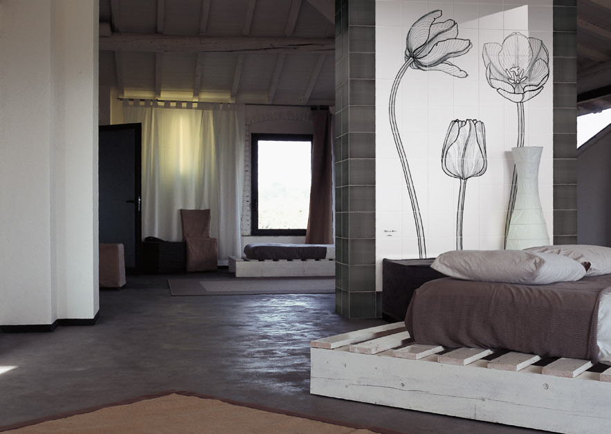 Tuli-Charme · Hand-Painted Tiles for Ceramica Bardelli · Milan 2009