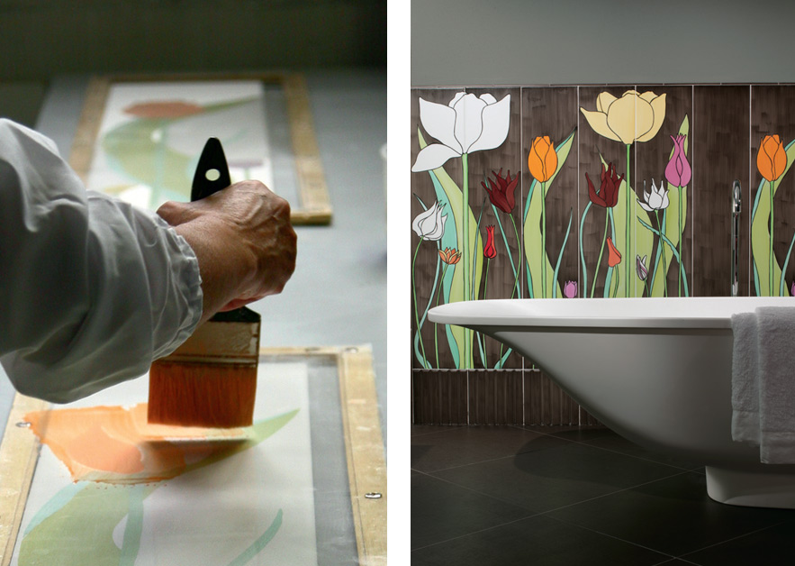Tulipani · Hand-Painted Tiles for Ceramica Bardelli · Milan 2009