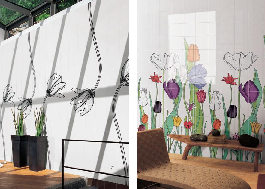Tuli-Charme & Tuli-Poni · Hand-Painted Tiles for Ceramica Bardelli · Milan 2009