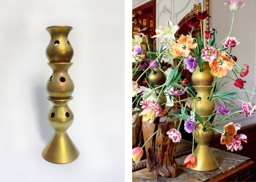 Topkapi · 3-piece · 80cm · Gold Glazed Ceramic