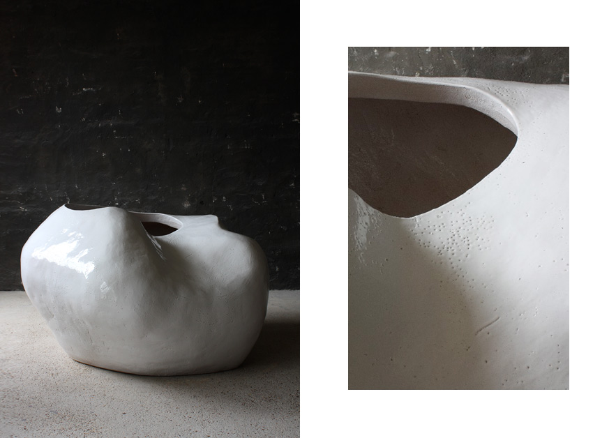 Rhizome No.1 · Glazed Ceramic Tree pot · 140x115x85cm
