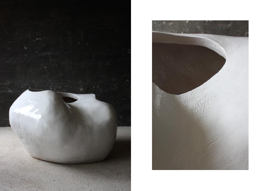 Rhizome No.1 · Glazed Ceramic Tree pot · 140x115x85cm