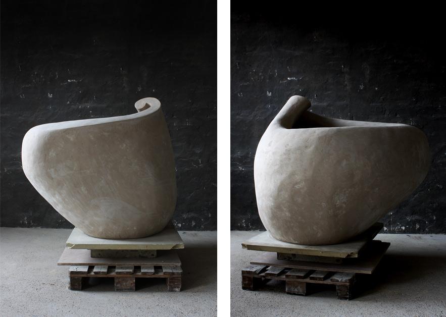 Rhizome No.2 before Glazing · Glazed Ceramic Tree pot · 128x122x103cm